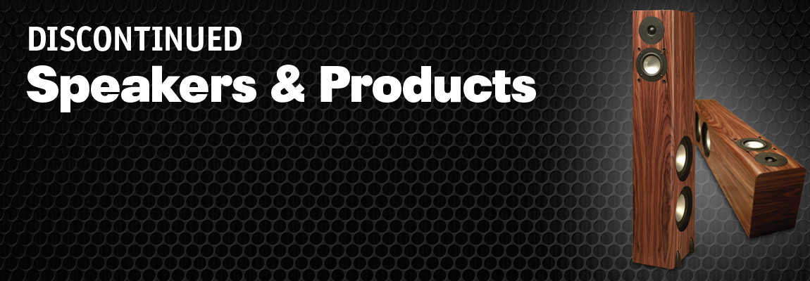 Discontinued Speakers Page Banner
