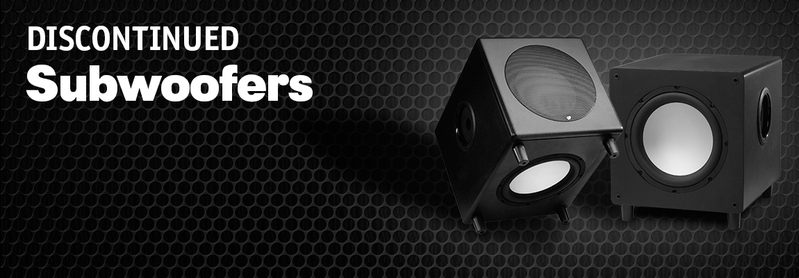 Discontinued Subwoofers Page Banner