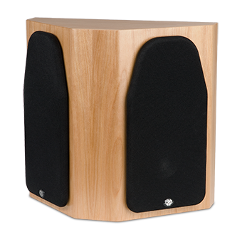 44-SE red birch speaker with grille
