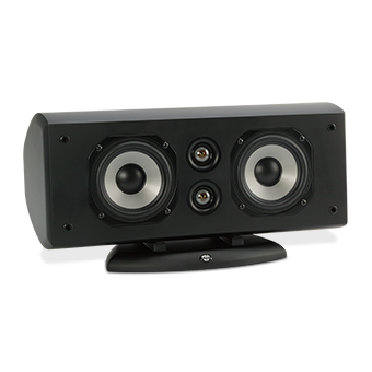 Horizontal AC-525 Black Speaker With No Grille