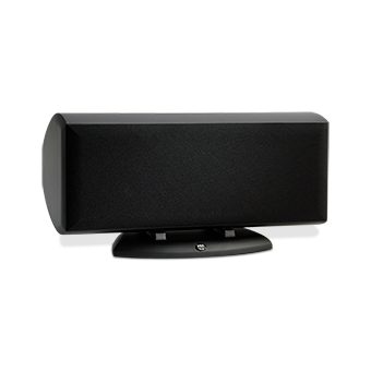 Horizontal AC-525 Black Speaker With Grille