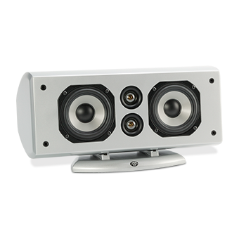 Horizontal AC-525 Silver Speaker With No Grille