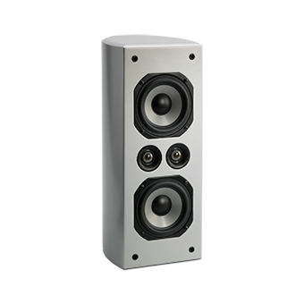 Vertical AC-525 Silver Speaker With No Grille