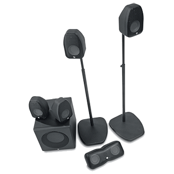 CT-5.1 series system in black