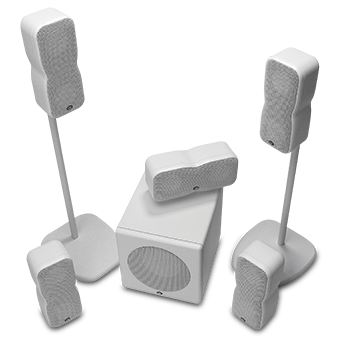 CT-5.1 series system in white