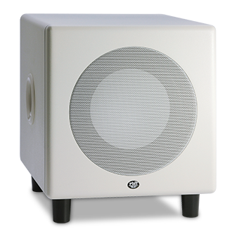MS-8.1 subwoofer in white.