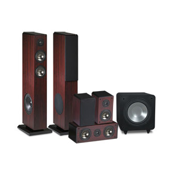 F300 Series 5.1 System in a Rosewood Finish