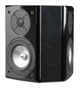 R55Wi Surround On-wall Speakers, Black Ash, without Grille