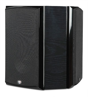 R55Wi Surround On-wall Speakers, Black Ash, with Grille
