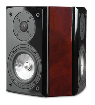 R55Wi Surround On-wall Speakers, Red Burl, without Grille