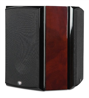 R55Wi Surround On-wall Speakers, Red Burl, with Grille