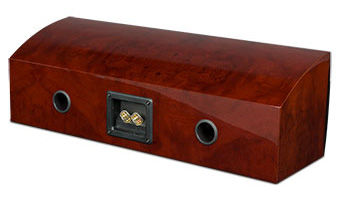 R5Ci Center Channel Speaker, Back, Red Burl