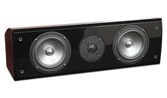 R5Ci Center Channel Speaker, Red Burl, without Grille