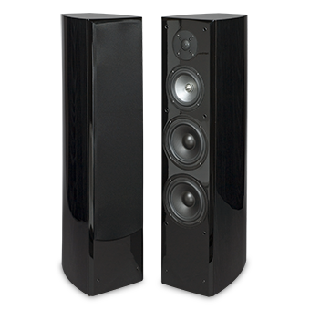 R5Ti Tower Speaker, Front, Black