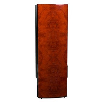 R5Ti Tower Speaker, Side, Red Burl