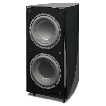 RS1010i Powered Subwoofer, Black Ash, without Grille