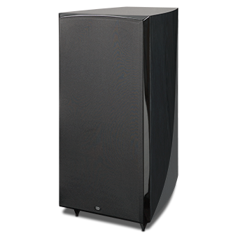 RS1010i Powered Subwoofer, Black Ash, with Grille