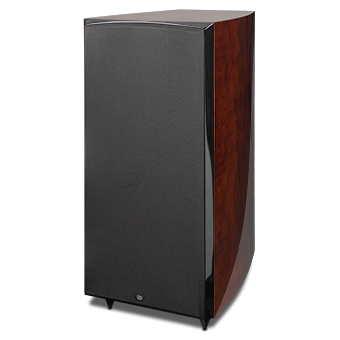 RS1010i Powered Subwoofer, Red Burl, without Grille