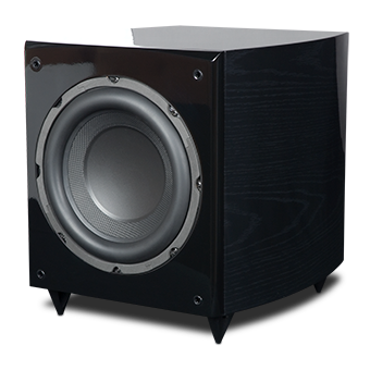 RS10i Powered Subwoofer, Black Ash, without Grille