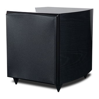 RS10i Powered Subwoofer, Black Ash, with Grille