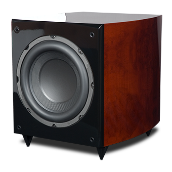 RS10i Powered Subwoofer, Red Burl, without Grille