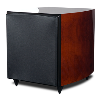 RS10i Powered Subwoofer, Red Burl, witho Grille
