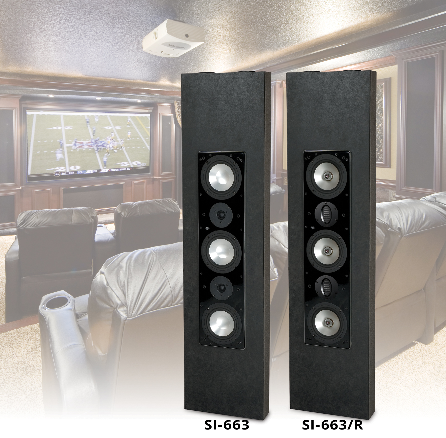 SI-663 and SI-663/R In-wall LCR Speaker