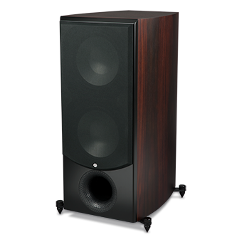 SX-1010P/R Powered Subwoofer, Sandalwood, with Grille