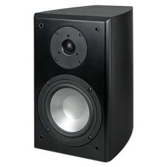 SX-61 Bookshelf Speaker, Black, without Grille