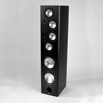 T-2 Tower Modular Speaker, Black, without Grille