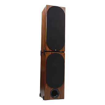 T-2 Tower Modular Speaker, South American Rosewood, with Grille