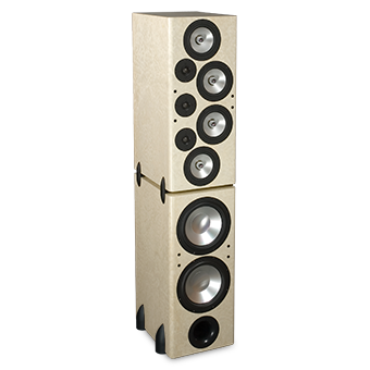 T-2/R Tower Modular Speaker, Maple, without Grille