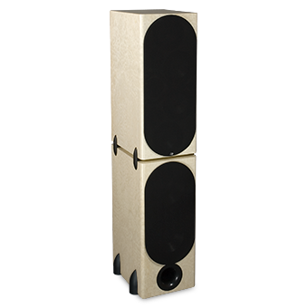 T-2/R Tower Modular Speaker, Maple, with Grille