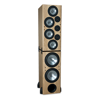 T-2/R Tower Modular Speaker, Pecan, without Grille