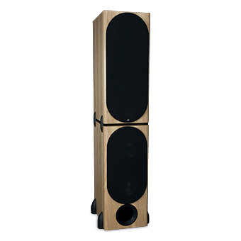 T-2/R Tower Modular Speaker, Pecan, with Grille