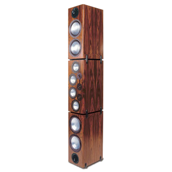 T-3 Tower Modular Speaker, South American Rosewood, without Grille