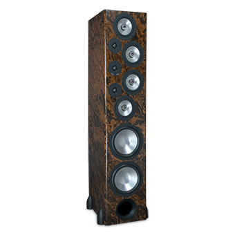T-30LSE Tower Speaker, Walnut Burl, without Grille