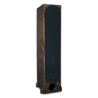 T-30LSE Tower Speaker, Walnut Burl, with Grille