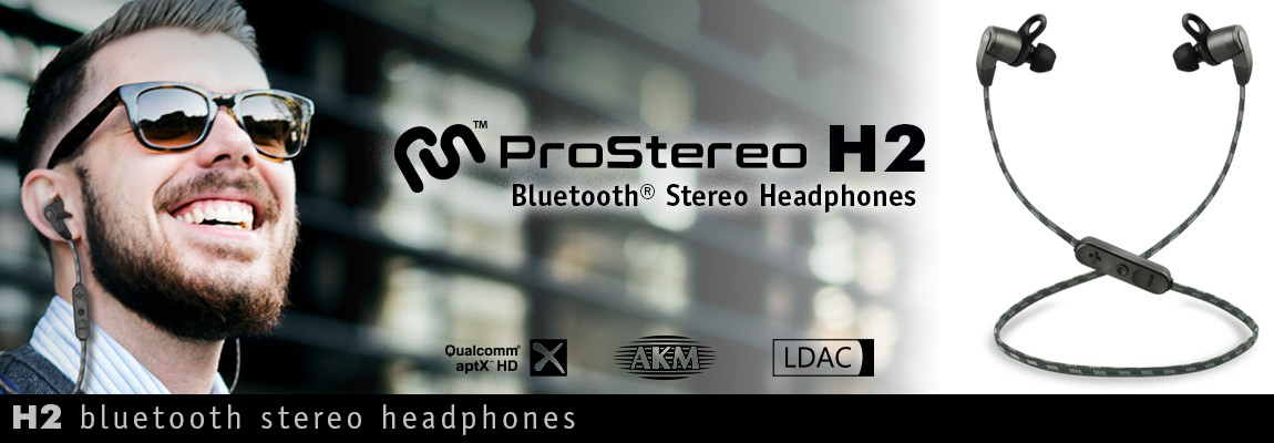 H2 ProStereo Bluetooth Stereo Headphones